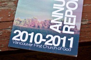 Vancouver Church Annual Report Church Graphics Church Annual Report