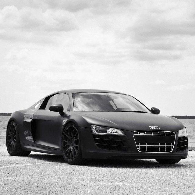 Audi Car Wallpaper: Matte Black ,Audi R8,german, Supercar, True, Speed
