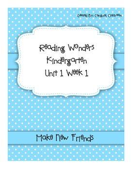 Reading Wonders Kindergarten Unit 1 Week 1 | Wonders Kindergarten