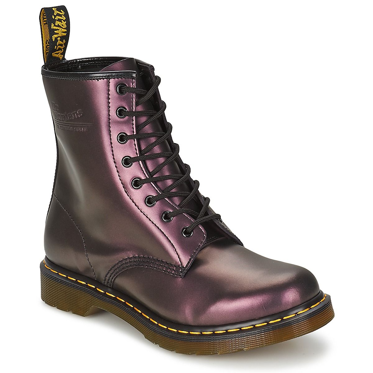 8018caba69f Boots Dr Martens 1460 prune métallique - Boots Femme Spartoo in 2019 ...