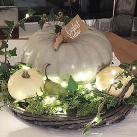 Herbstliche Tischdekoration mit Kürbis* fall table setting