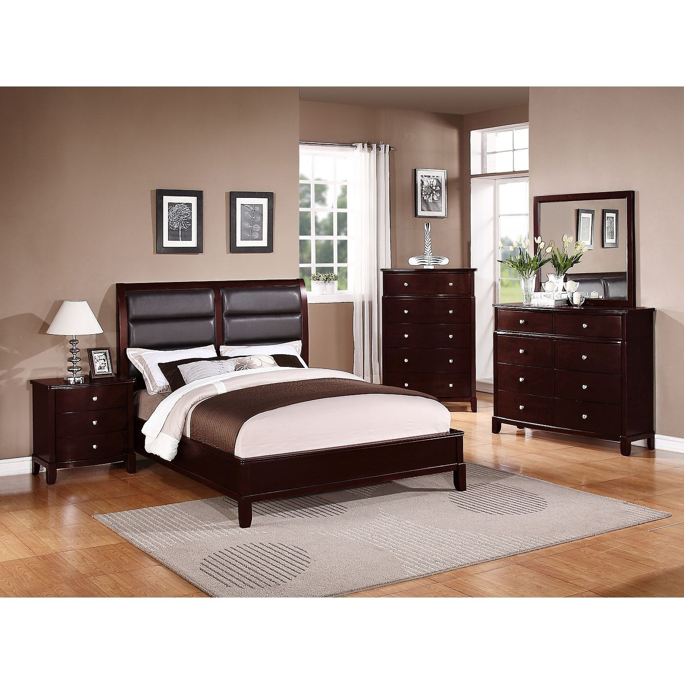 Let This Queensize Bedroom Set Bring A Sleek Contemporary Feel Custom Queen Size Bedroom Sets Inspiration