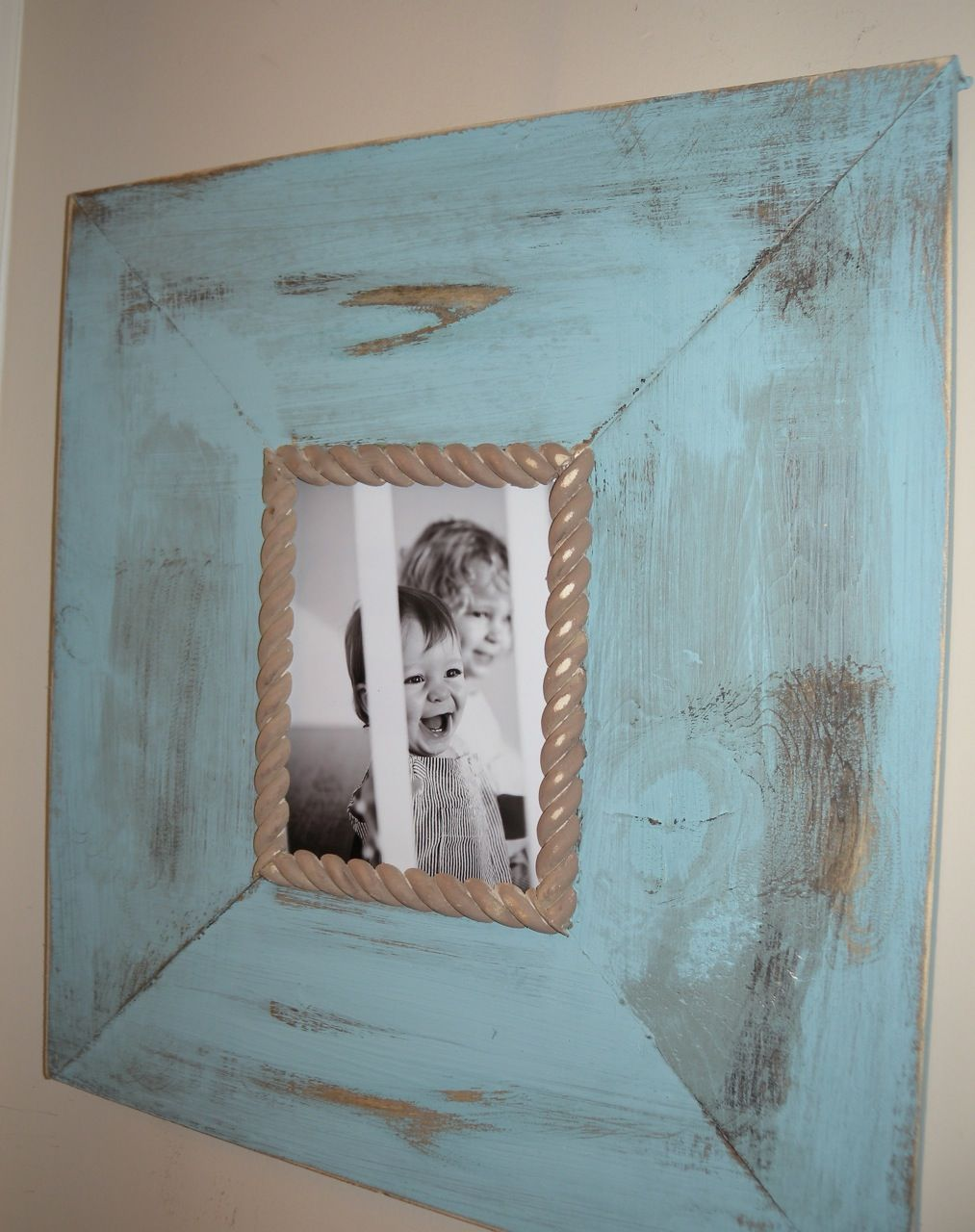could do something with old picture frames? or put old pieces of ...