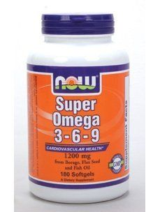 Super Omega 3 6 9 1200mg 180 Softgel By Now Foods 16 99 Cardiovascular Health From Borage Flax Seed And Fish Oil Fish Oil Organic Flax Seed Essential Fatty Acids