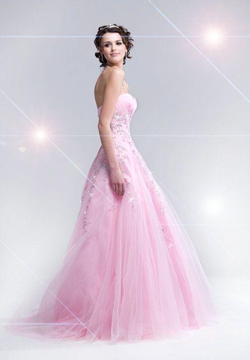 light pink prom dresses | ckai | Pinterest | Vestido de baile, Baile ...