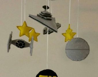 May The Force Be With You Star Wars Mobile Jedi E Ship Nursery