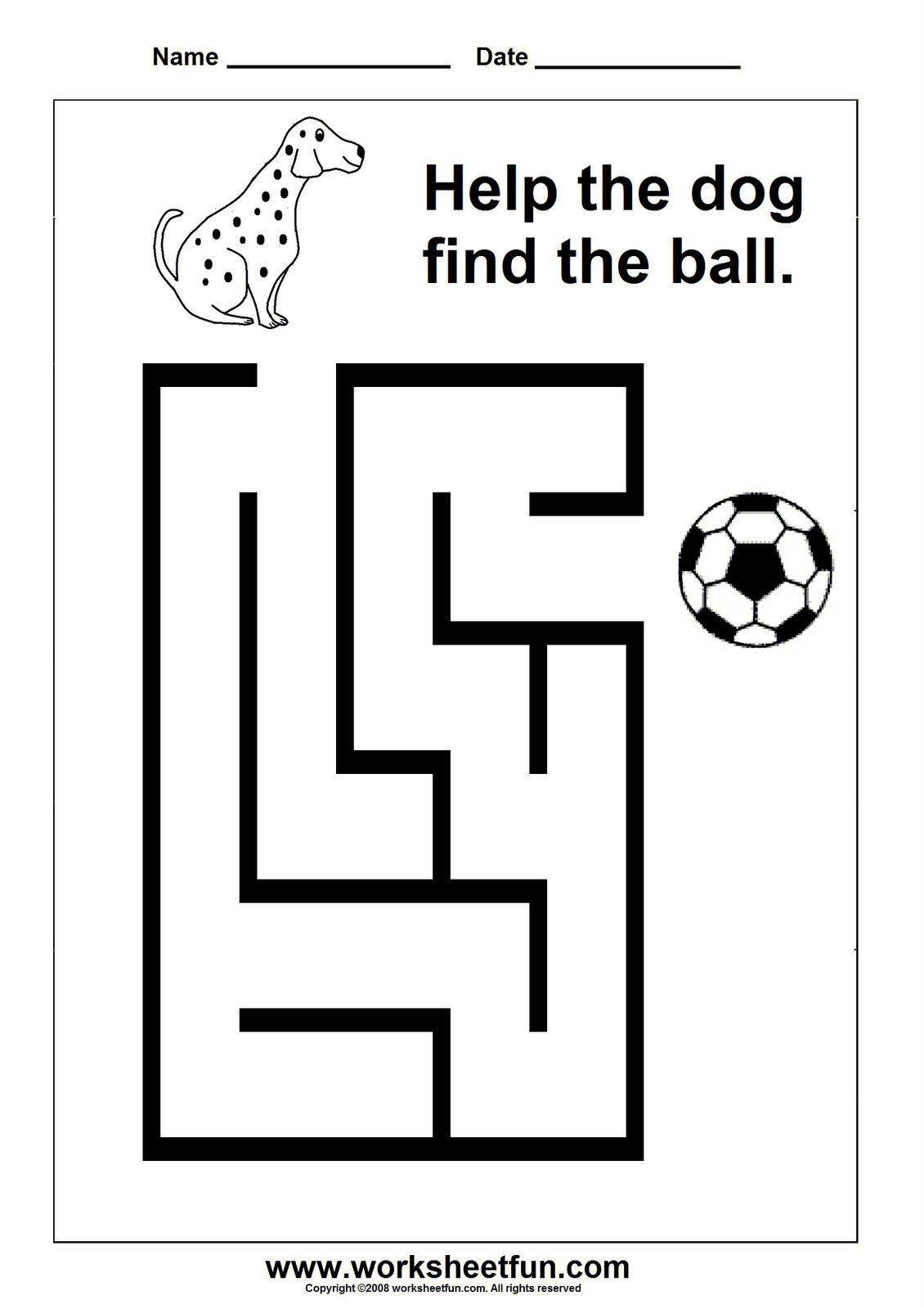 It is a picture of Versatile Maze for Kindergarten Printable Free