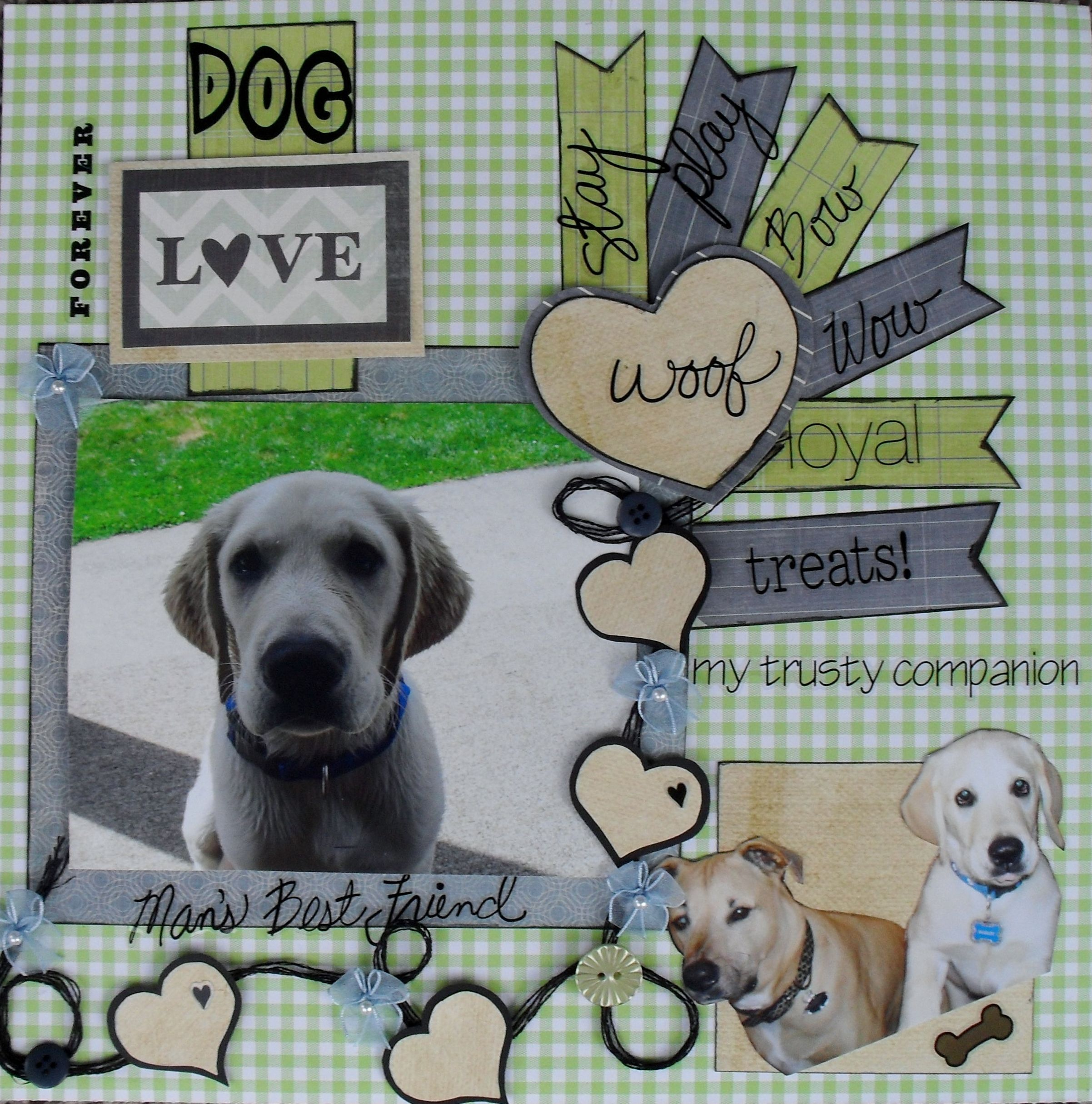Scrapbook ideas retirement page