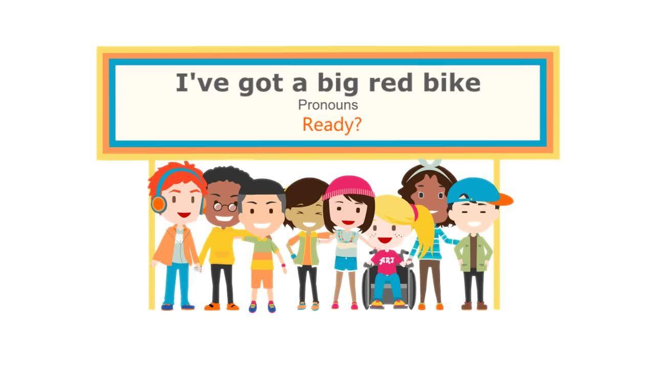 I Ve Got A Big Red Bike Red Bike Family Photos Sing The Alphabet [ 720 x 1280 Pixel ]