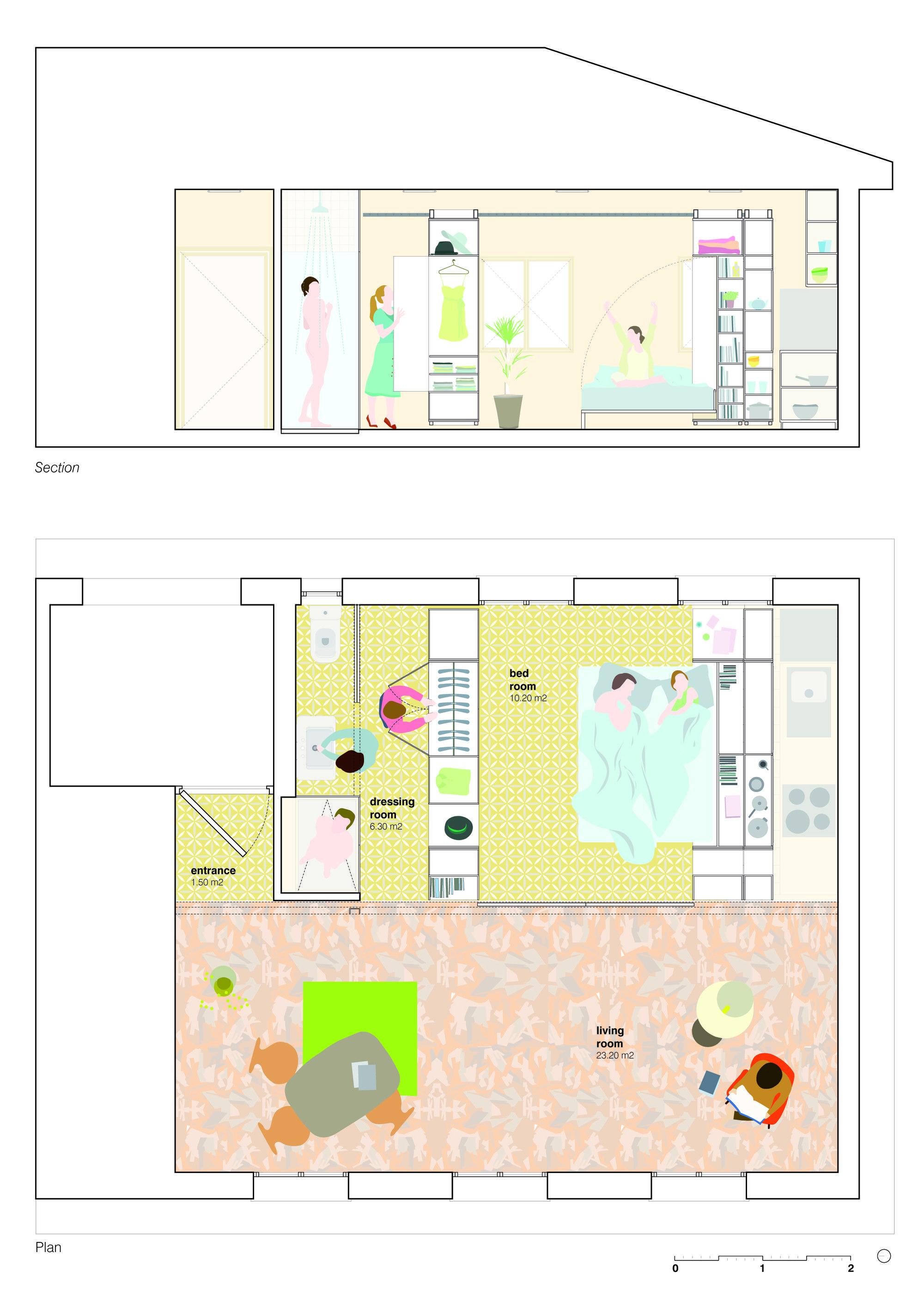 Galeria de Escritório PKMN Architectures cria casa flexível em Madri - 47
