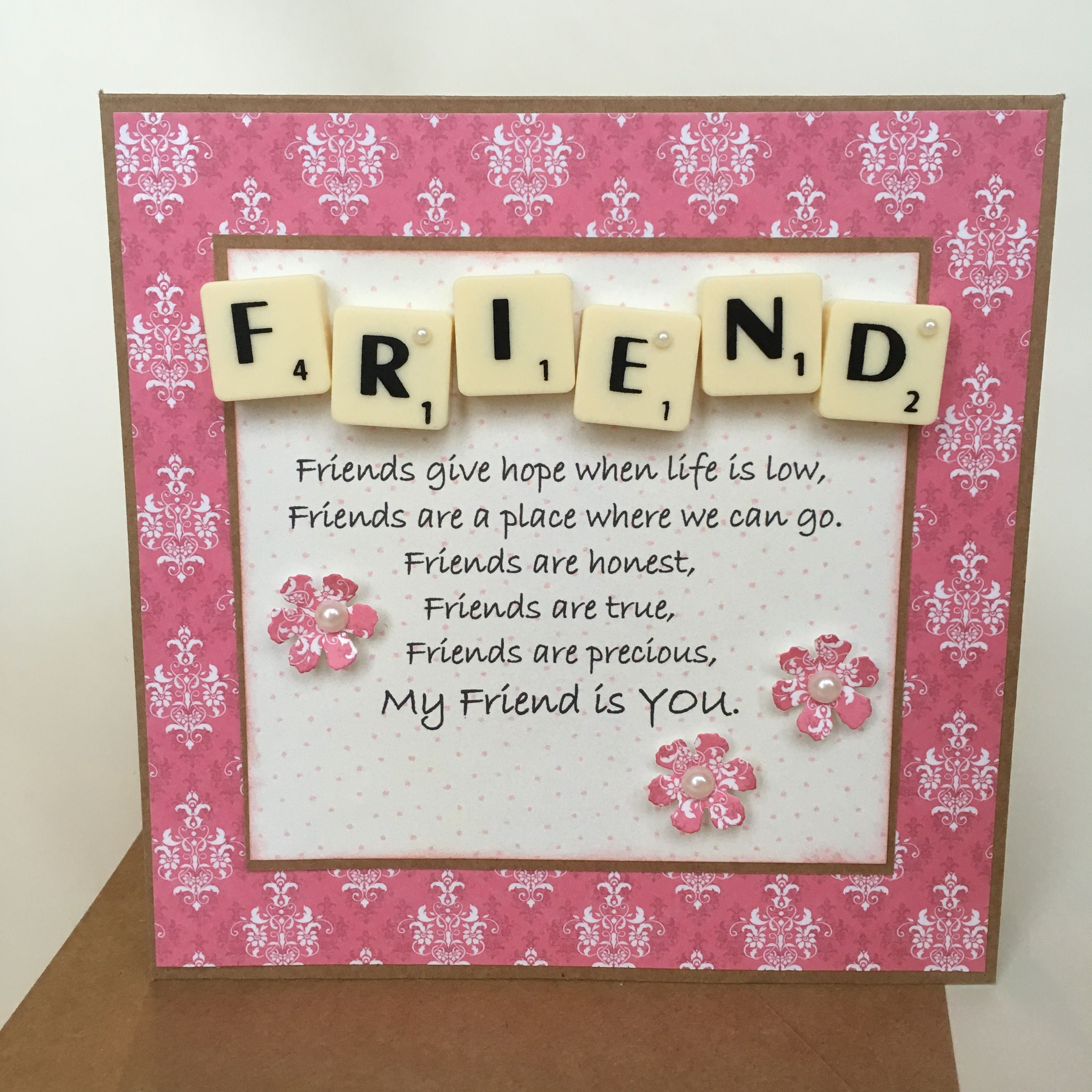 Happy Birthday Friend Lovely Quote Scrabble Card Scrabble Cards