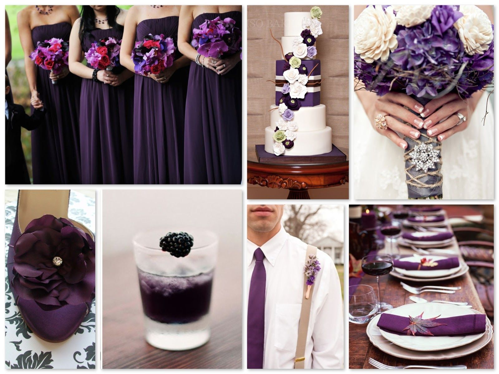 Once Again Purple Has Made It To Pantone S Wedding Color Forecast This Time A Deep Elegant Shade Called Acai I Gathered Some Pretty