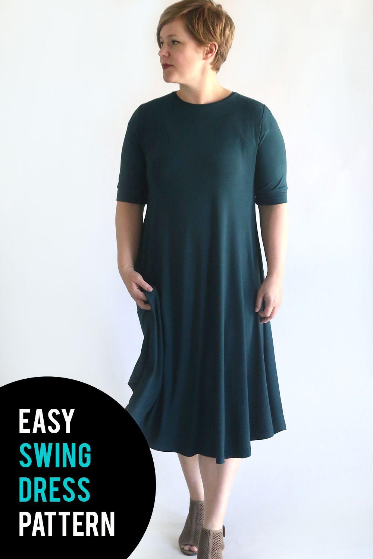 How to sew a swing dress using a free pattern. Easy sewing tutorial. #itsalwaysautumn #sewing #sewingpattern #swingdress