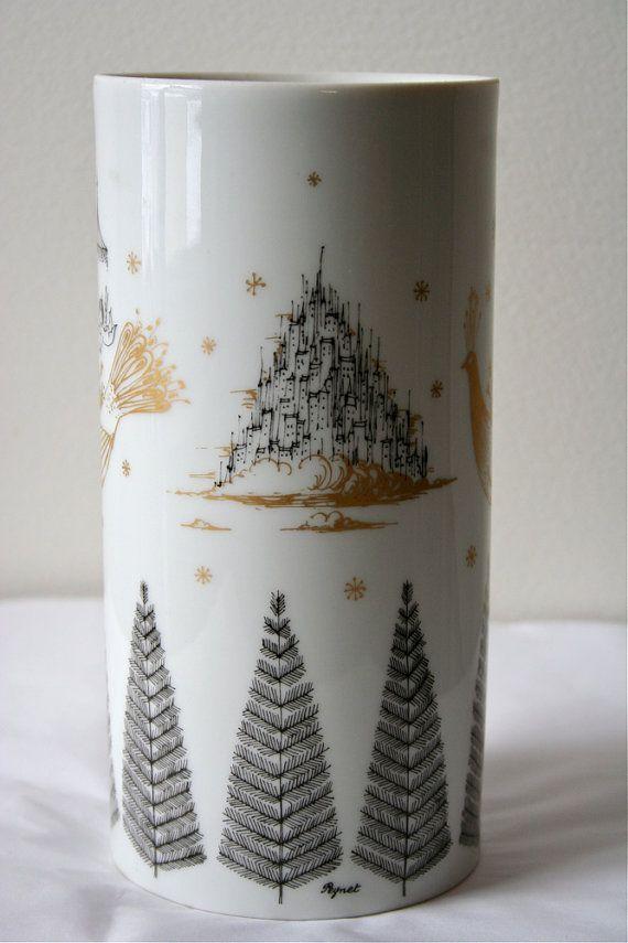 Vintage Peynet Rosenthal Studio Linie Vase The Lovers 100 By