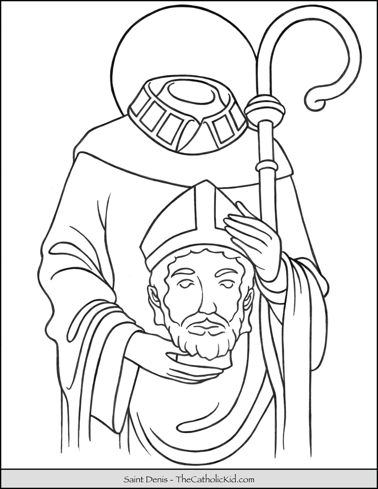 Saint Denis Coloring Page Thecatholickid Com Colorful Drawings