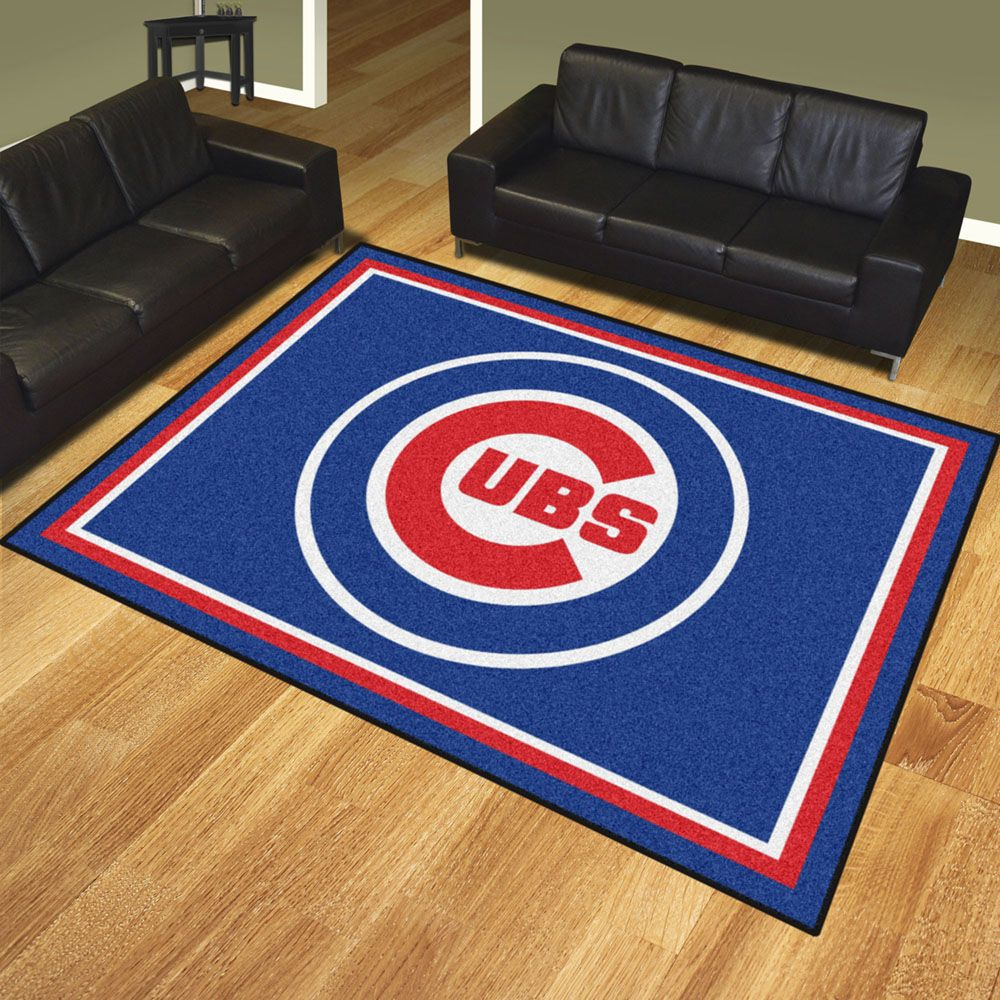 Chicago Cubs 8 X 10 Ultra Plush Carpet Area Rug Floor Mat 8x10 Rugs Rugs Chicago Cubs