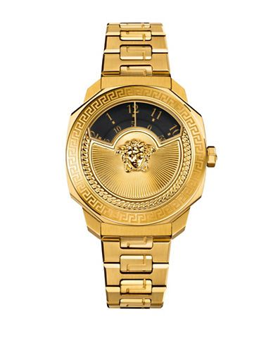 446bcec51a Versace Limited Edition Dylos Icon Goldtone Stainless Steel Watch ...