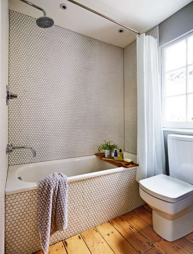 Bathroom in extended Victorian home