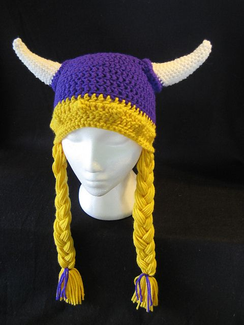Viking Hat with Braids pattern by DACcrochet | Pinterest