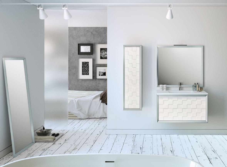Mueble baño Elegant plata 18.18 x 418 cm · LEROY MERLIN  Muebles de
