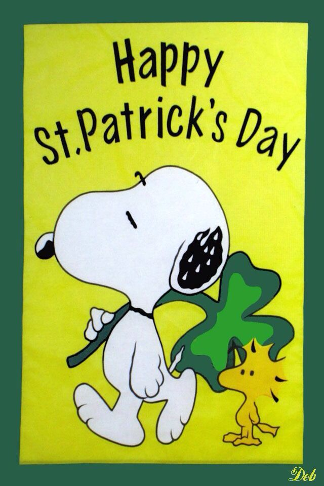 Snoopy St Patrick S Day Iphone Wallpaper Background St Patricks Day Pictures St Patricks Day Quotes Snoopy