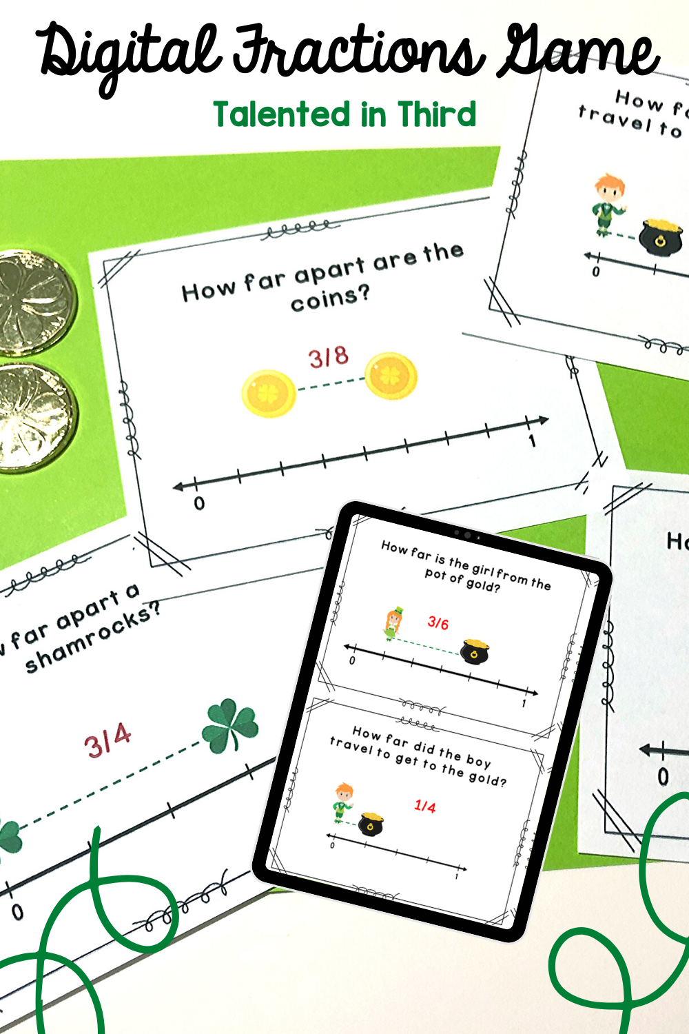 St. Patrick's Day Fractions Game in 2020 Fraction games