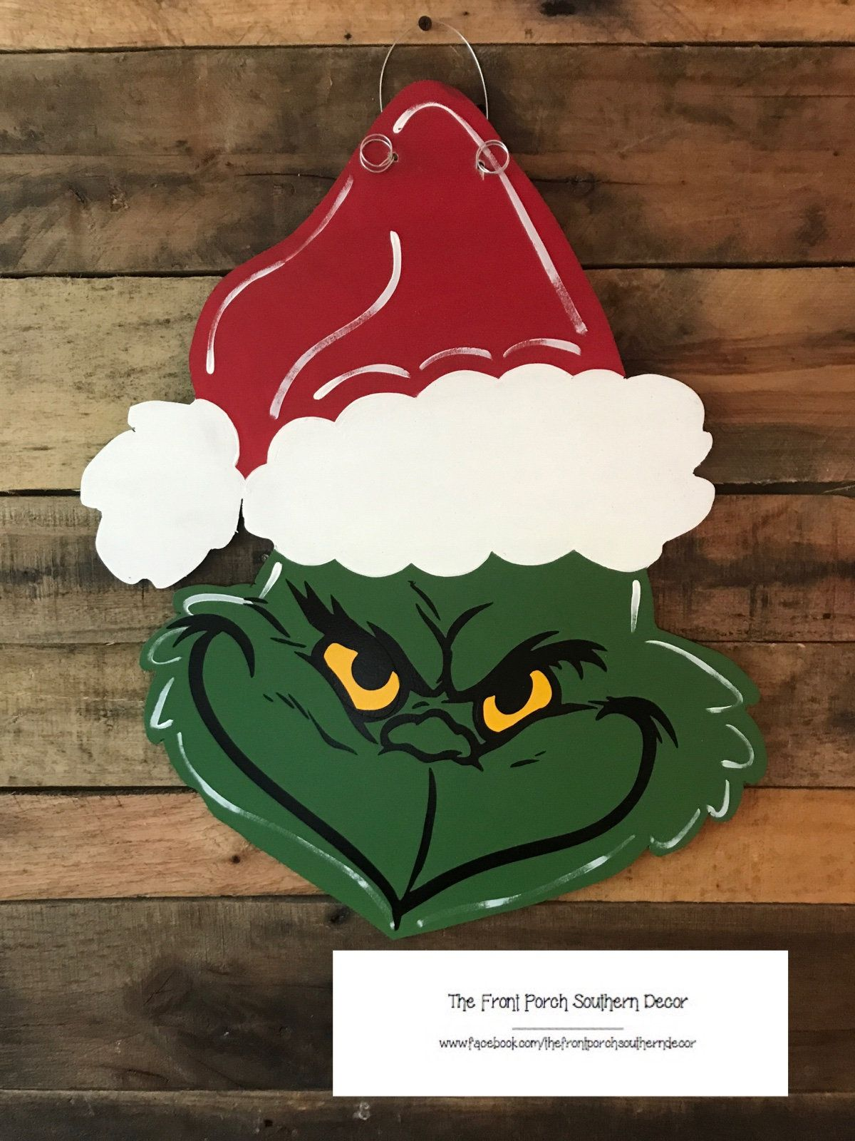 Grinch Head Door Hanger By Thefrontporchdecor On Etsy