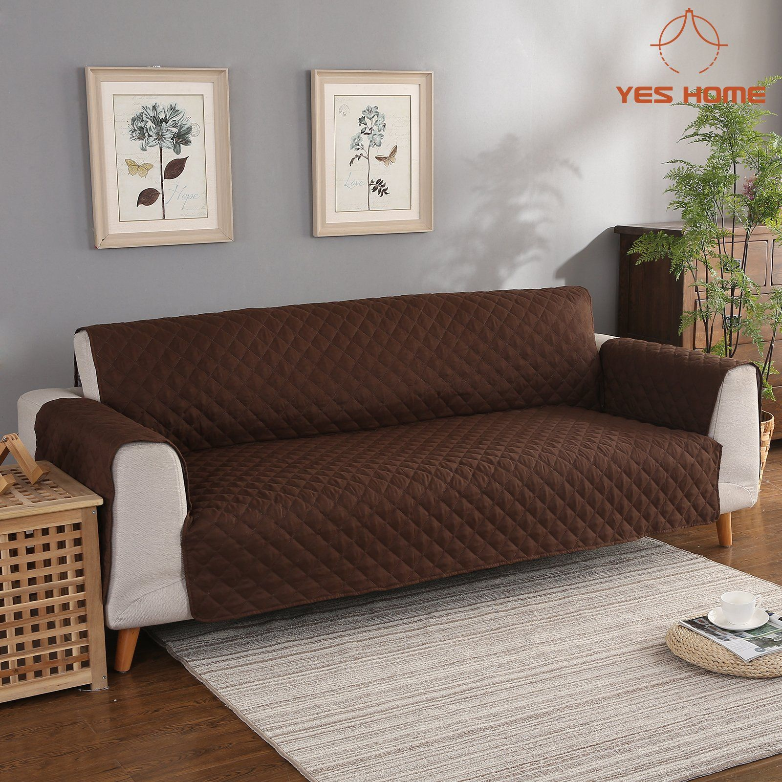 Yeshome Sofa Cover Slipcoversquilted Upgrade Antislip Couch