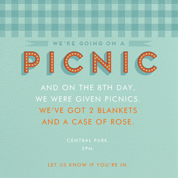 WeRe Going On A Picnic Invitation Paperless Post  Baby Shower