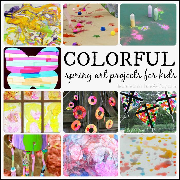 Bunte Frühlingskunstprojekte für Kinder