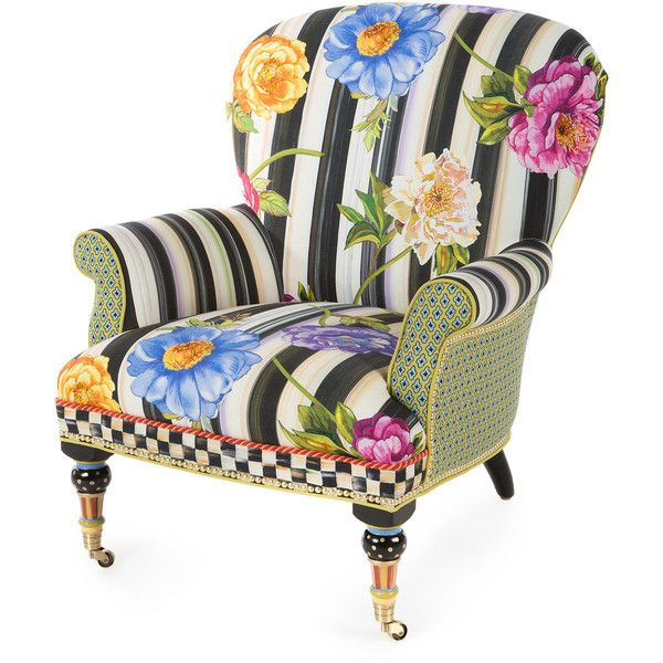 Mackenzie Childs Cutting Garden Accent Chair (226.285 RUB) ❤ Liked On  Polyvore Featuring Home, Furniture, Chairs, Accent Chairs, Chair, Multi  Colors, ...