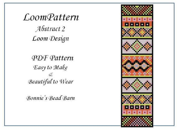 Loom Pattern  Abstract 2 for Seed Beads Delica or TOHO Seed
