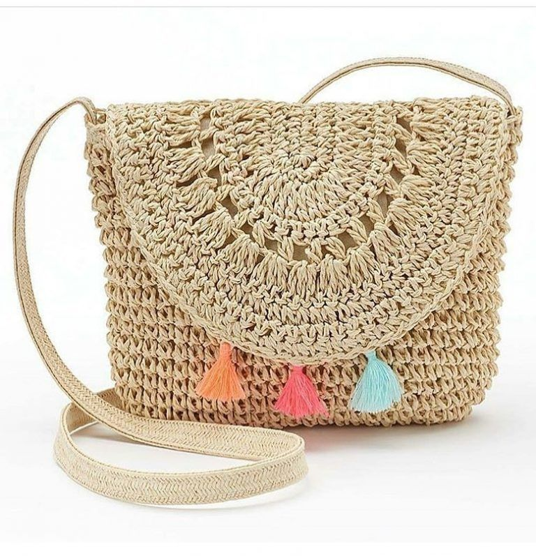 Crochet Cute Bags, Beach Bag, and Handbag Image Pattern for 2019 #crochetformoney