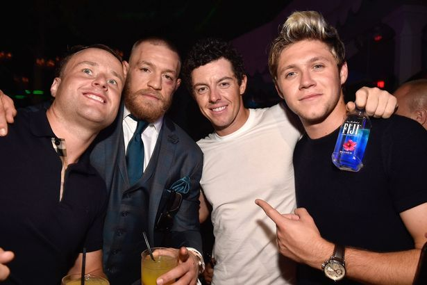 August 20th Niall With Rory Mcilroy And Conor Mcgregor At Conor S After Party At Las Vegas Intrigue Nightclub Niall Horan Ufc Perfect People
