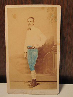 Antique Early Victorian Post Civil War Baseball Fitchburg MA ID David May Photo   eBay
