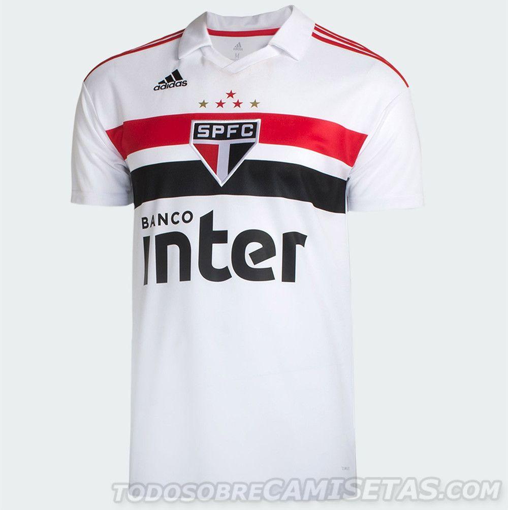 ce9e631d9 Camisas adidas do Sao Paulo 2018-19 | camisetas de futbol | Jersey ...