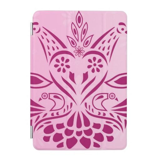 Pink Sweet Heart Love Birds iPad Mini Cover