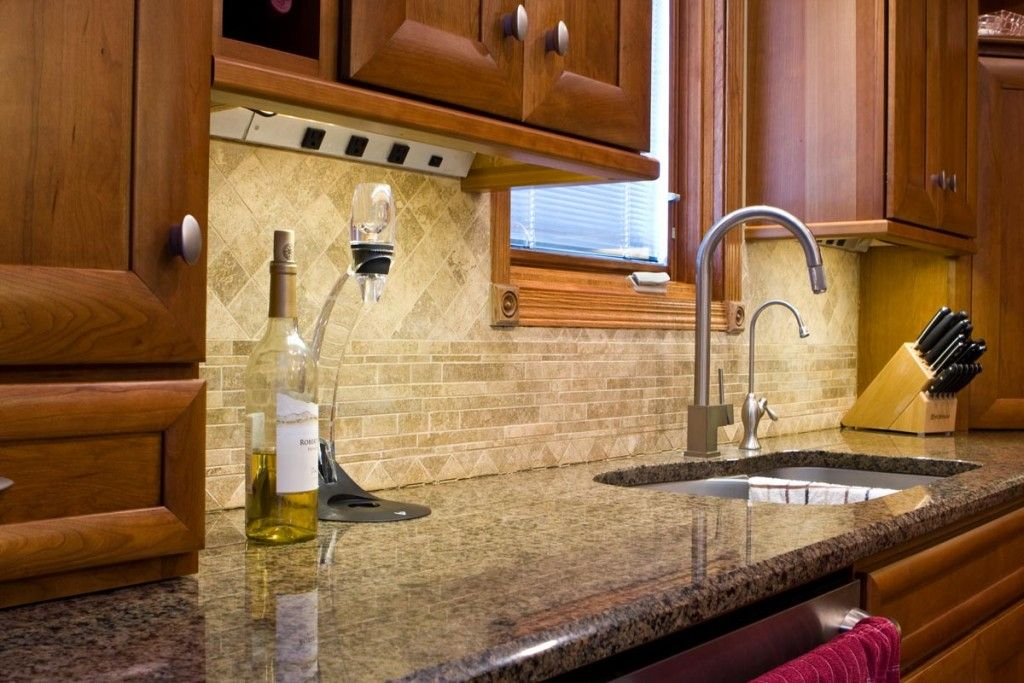 Under Cabinet Receptacles Kitchen Traditional With Angle Power