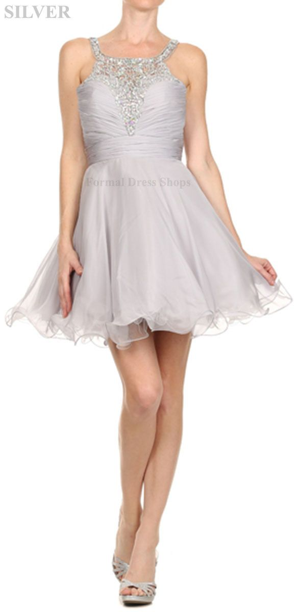 Cool Great Short Demure Bodice Prom Dresses Semi Formal Dance Party