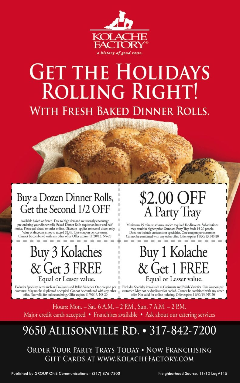 Just 9 More Days To Cash In On These Coupons From The Kolache Factory My Neighborhood Source Print Save Baked Dinner Kolache Factory Tray Bakes