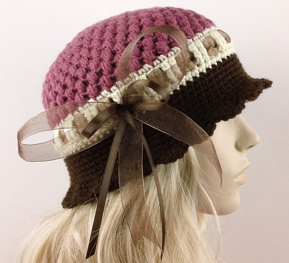 Crochet Pattern Cloche Hat Pattern Crochet Hat 1920s Flapper