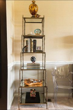 Ballard Designs Wilton Etagere Dining Room With A Traveled Eclectic Vibe Transitional