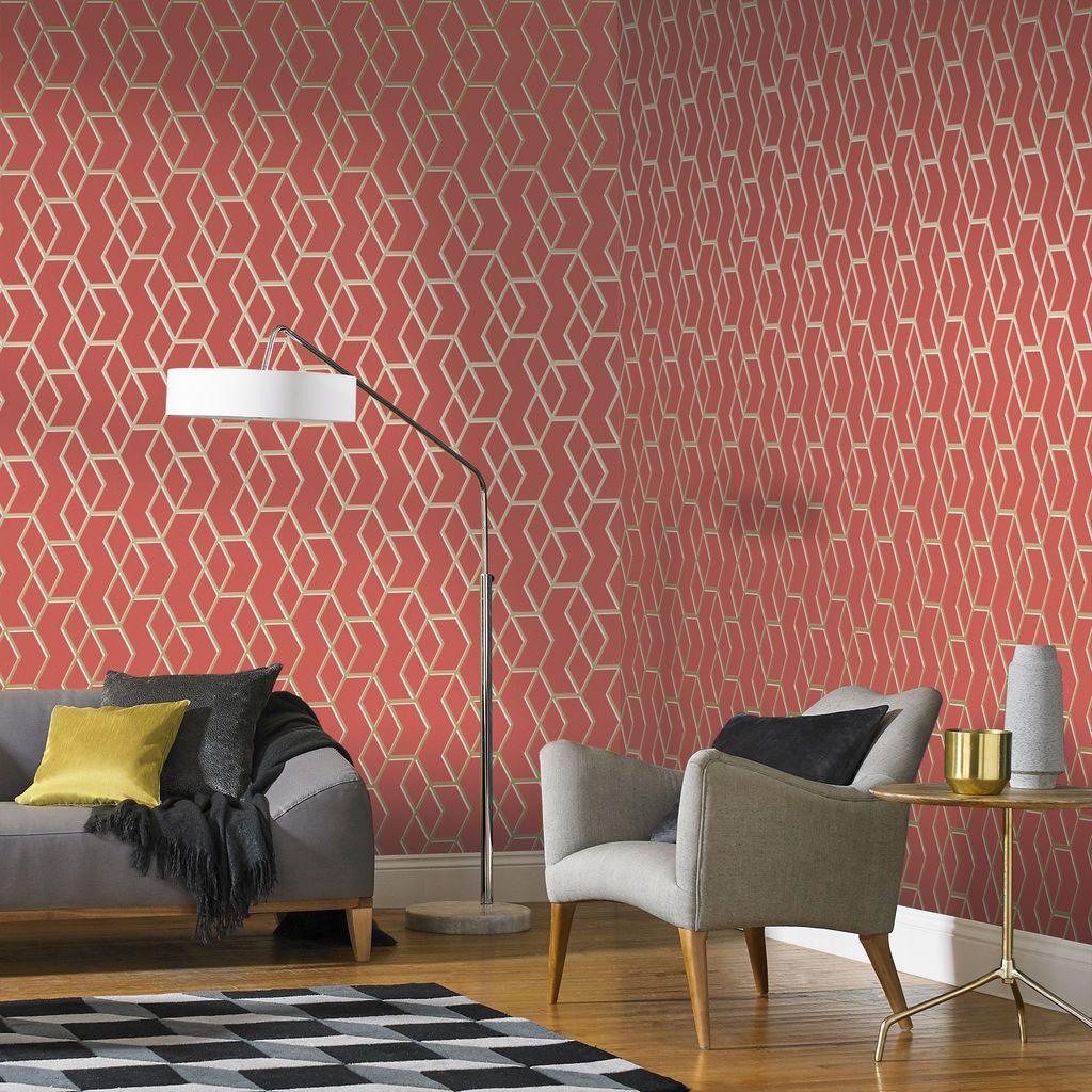Archetype Wallpaper Gold Wallpaper Living Room Wallpaper Li