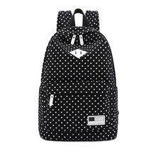 8965a90a133 2016 mujeres mochila mochila para adolescentes de la escuela secundaria  niñas Vintage para mujer con estilo del bolso del morral femenino de puntos  de ...
