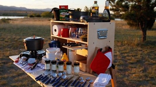 If you've ever camped, you know how difficult it can be to stay organized. There's so much gear that you need just to eat, sleep and relax, and if you lose just one piece, it could ruin your whole trip. My Camp Kitchen is a kitchen storage solution that keeps all your cooking and eating gear in one neat package.