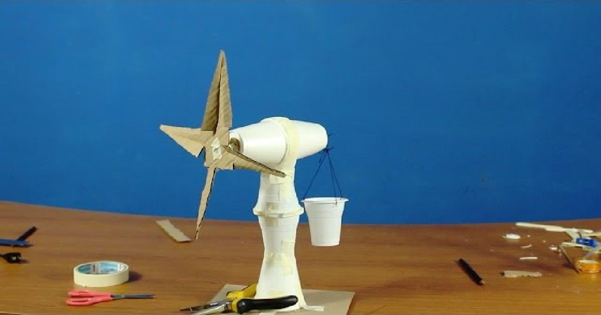 Make your own Science Fair Project Windmill or wind