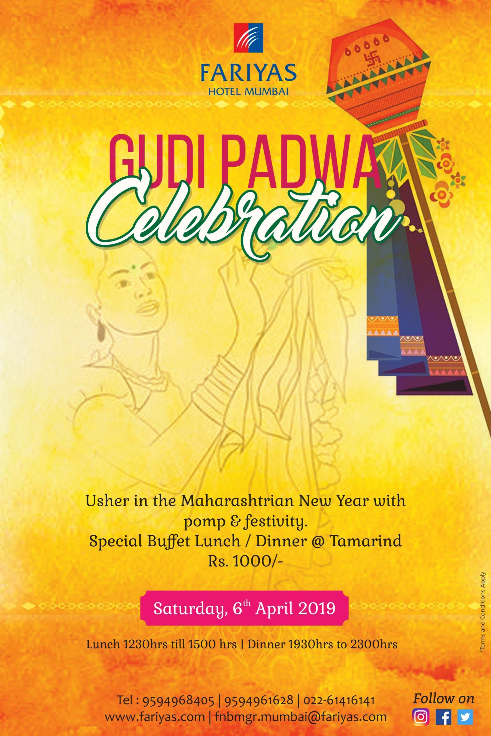 Gudi Padwa celebration: Special buffet Lunch/Dinner at ...