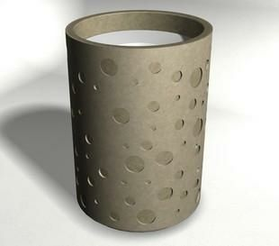 Concrete Outdoor Trash Receptacles Waste Container