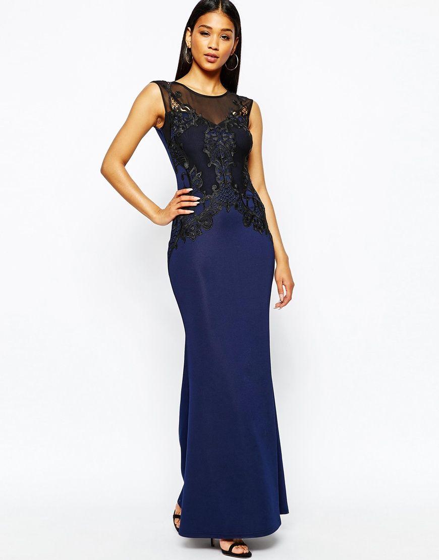Lipsy Lace Applique Top Maxi Dress | Style Vision | Pinterest ...