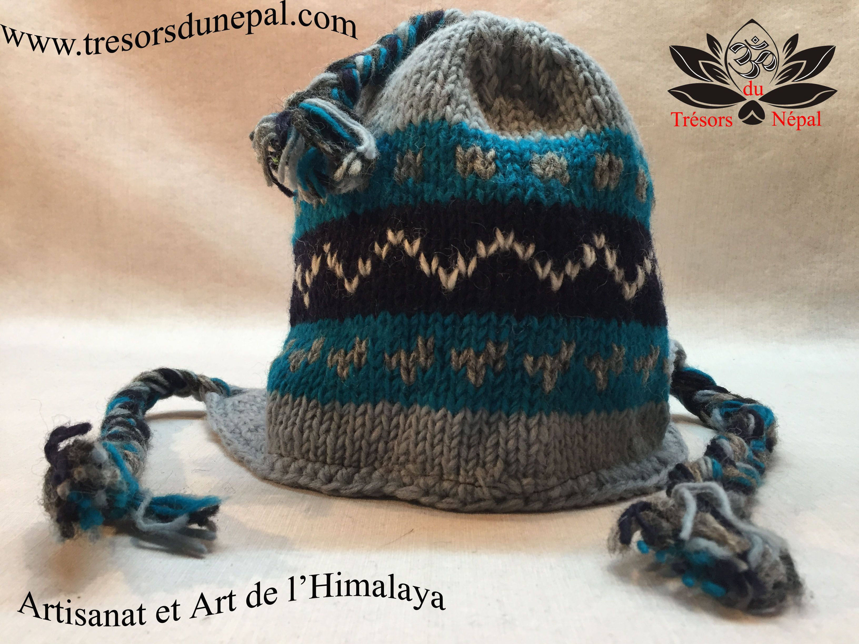 en arrivant volume grand acheter maintenant Bonnet Népalais tricoté à la main. Boutique en ligne d ...
